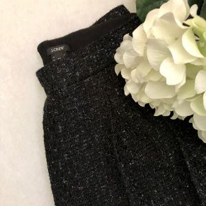 J. Crew Tweed Black Shimmer Mini Skirt